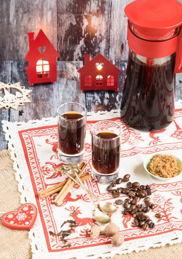 Deliciously different spiced home made festive cold brew coffee