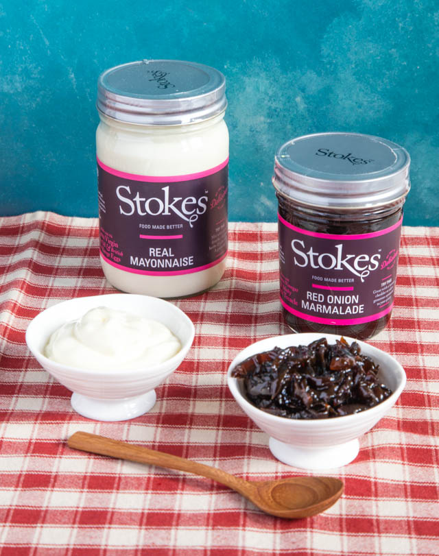 Mayonnaise and onion marmalade from Stokes sauces