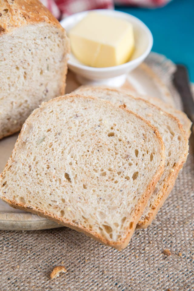 Delicious and wholesome bread, made with home fermented milk kefir