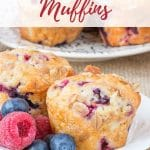 Moreish yogurt muffins; easy to make at any time with frozen berries.