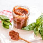 Delicious fat free slow cooker tomato sauce. Perfect for pasta and pizza.