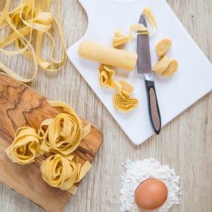 Delicious homemade fresh pasta.