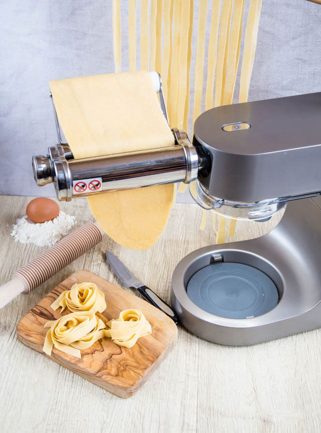 Delicous home made fresh pasta is easy with a stand mixer