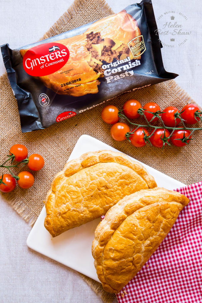 Traditional Cornish pasties made by Ginsters