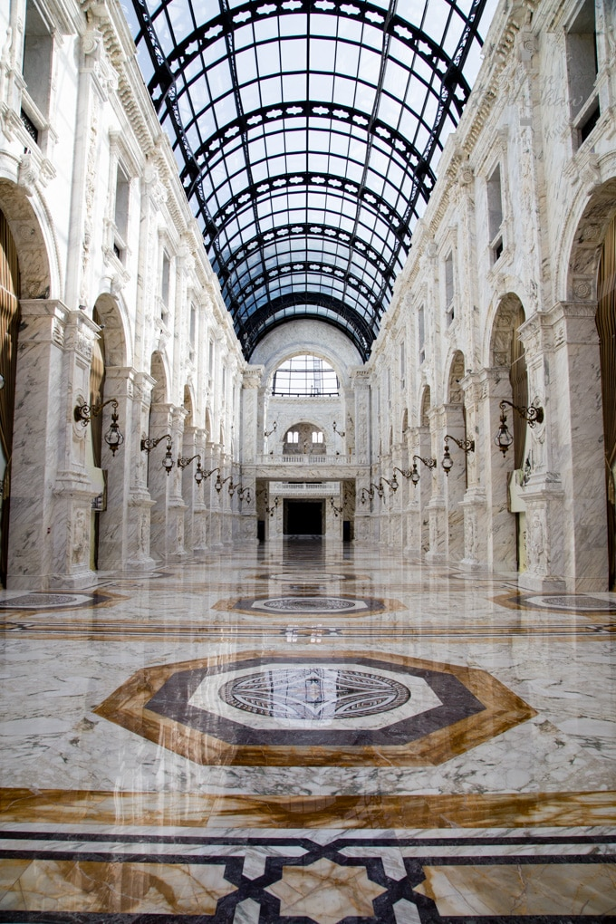 The oppulent marble Al Hazm Mall Doha Qatar