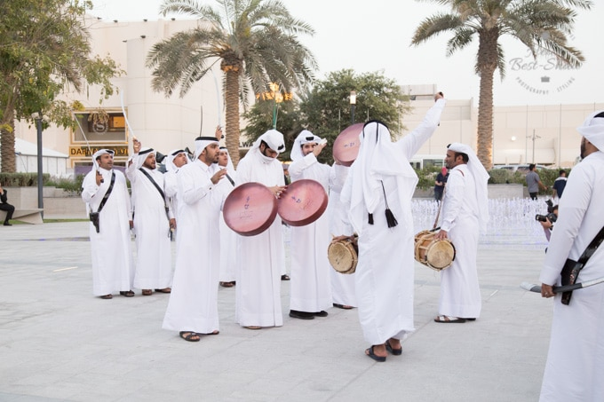 Arab men dancing the Ardha