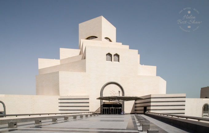 The modern building housing the museum of Islamic Art in Doha