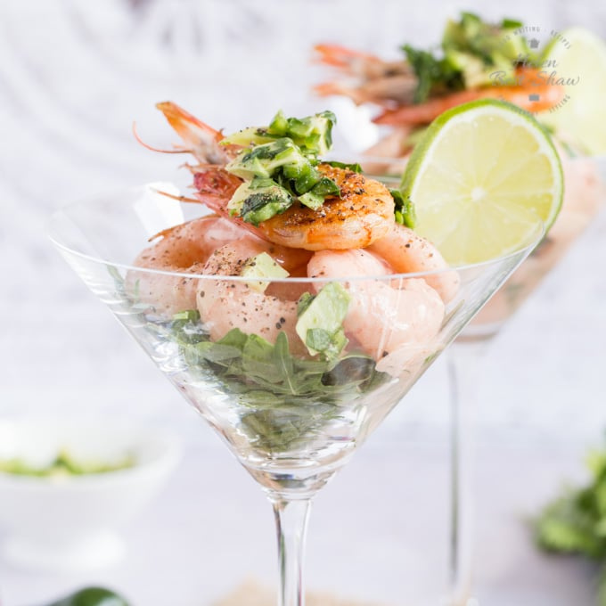 Modern Prawn Cocktail with Frozen Yogurt