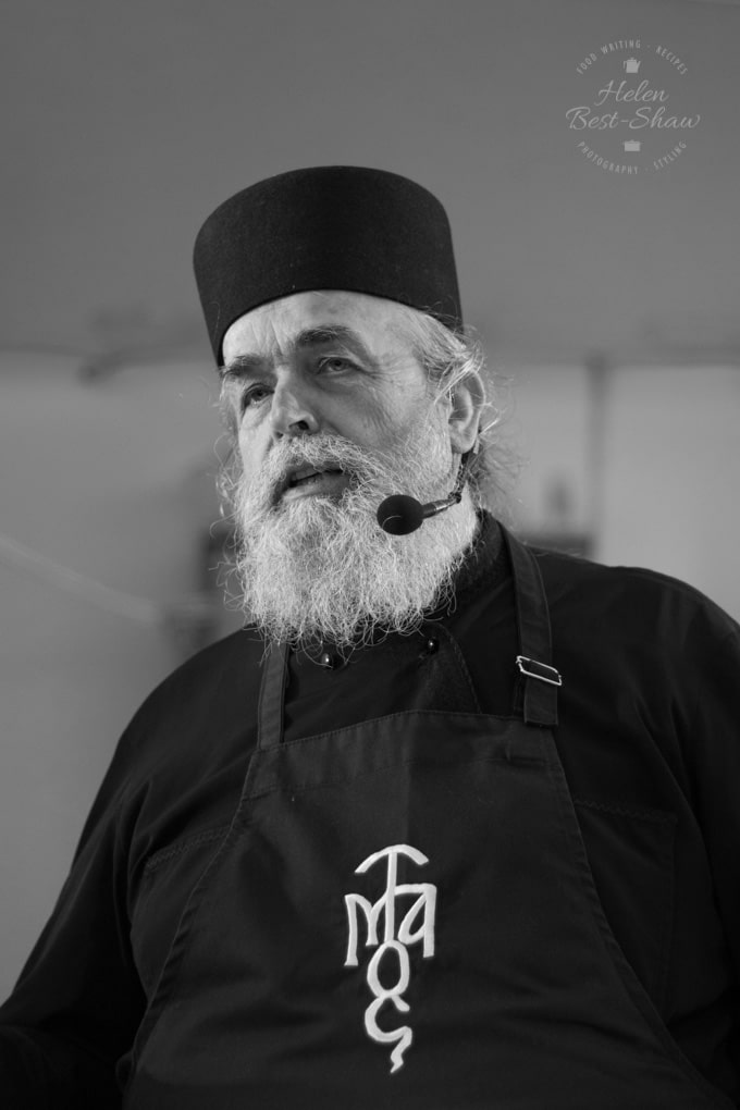 a black and white photo of Father Epiphanios