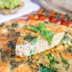 Tenderstem Broccoli & Salmon Frittata {3 Ingredient, Low Carb, Keto}