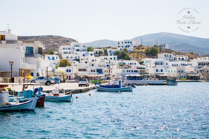 The harbour of Panormos, Tinos