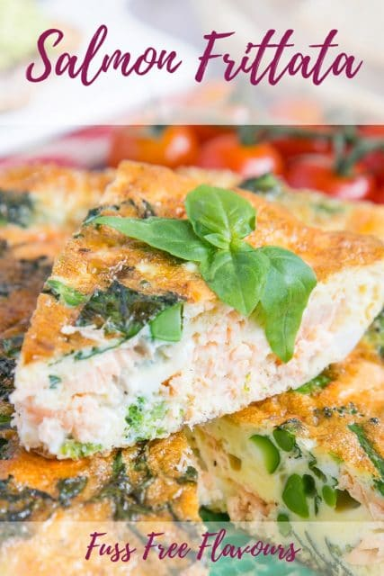 Frittatas are delicious and work particularly well for brunch. This recipe includes fresh salmon and tenderstem for a rich, tasty and satisfying dish. Can you guess how many ingredients it uses?