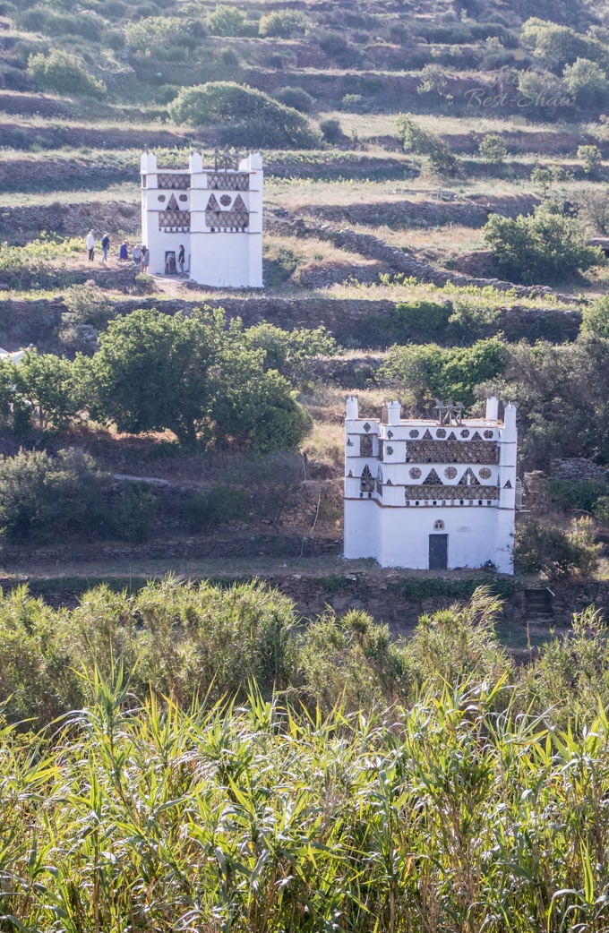 Ornate dovecotes on the island of Tinos