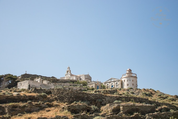 Hilltop monastery in Tinos