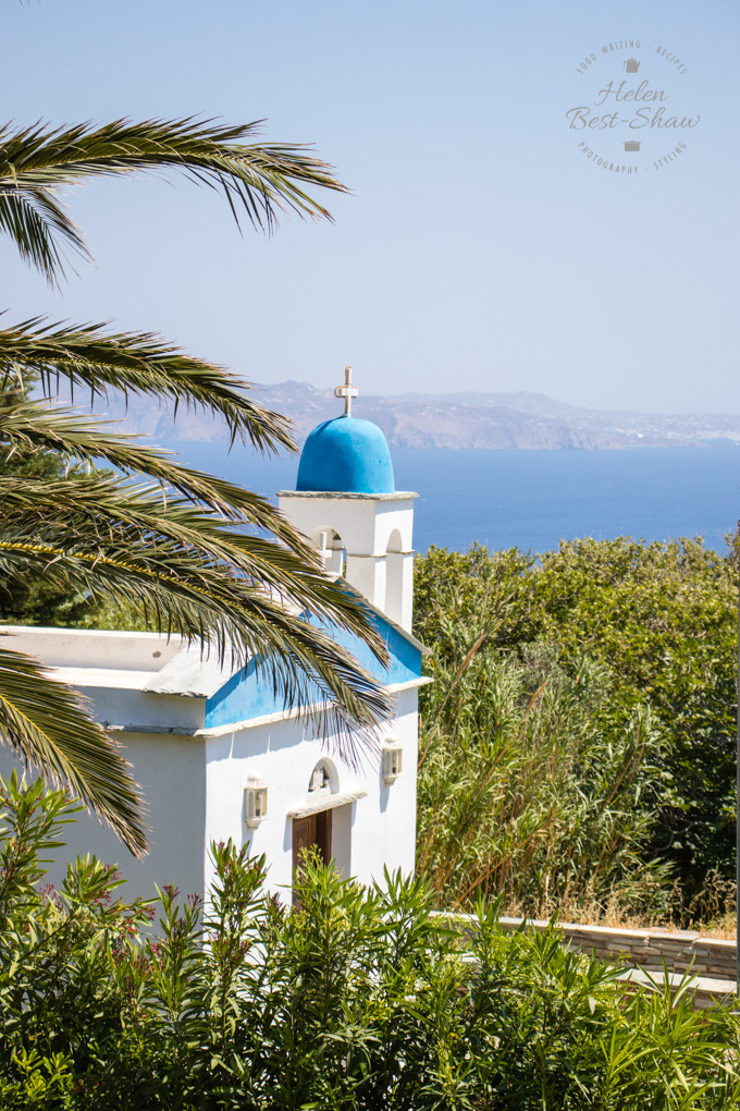 Greek Orthodox Church On the Greek Islad of Tinos, with a vewi of the Agean behind