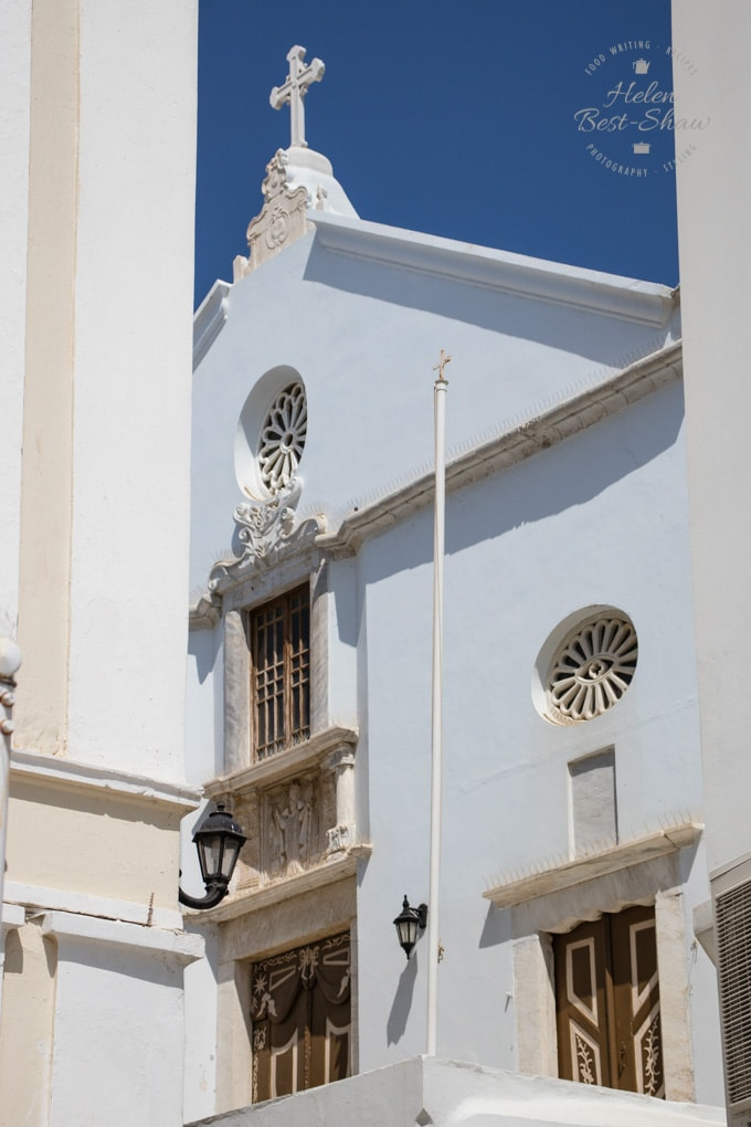 White Washed Church in Tinos Town