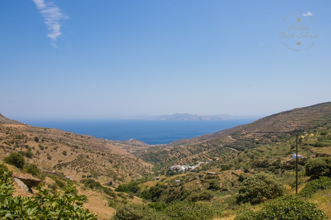 View from Tinos over the sea to Siros