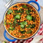 Indian Chickpea Curry with Tomato & Spinach {Vegan & Gluten Free}