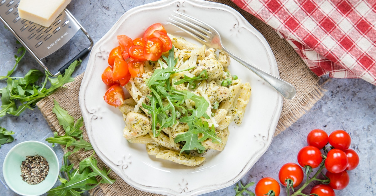 Easy Philly Pesto Chicken Pasta Fuss Free Flavours