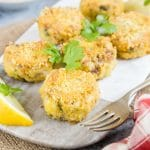 Easy smoked mackerel fishcakes with chickpeas {Gluten Free}
