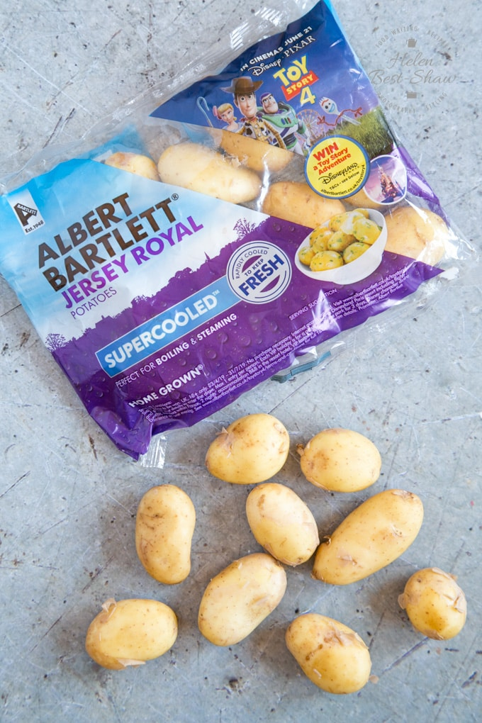 A packet of Jersey Royal New potatoes