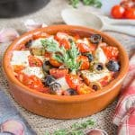 Baked Feta & Tomatoes with Garlic