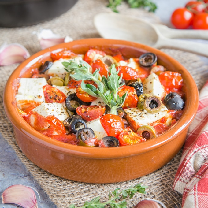 Baked Feta with Tomatoes and Garlic
