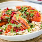 BBQ Grilled Watermelon and Mixed Grain Salad {Vegan}