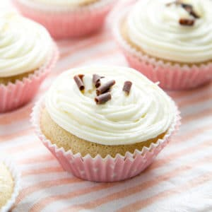 Close up on egg free cupcakes