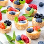 Mini Fruit Tart Canapés with Creme Patissiere