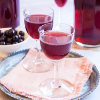 A glass of sloe gin