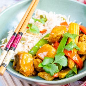 A bowl of easy Chinese chicken curry