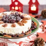 Easy Christmas Cheesecake (No-Bake)