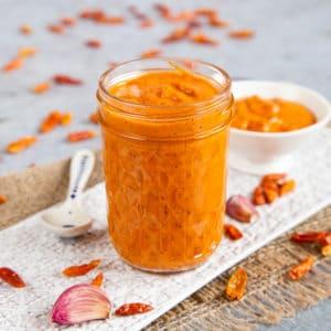 Orange peri peri sauce