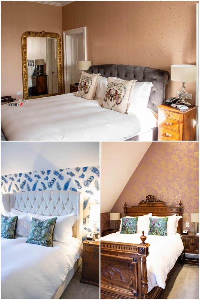 Three bedrooms at Paschoe House Hotel