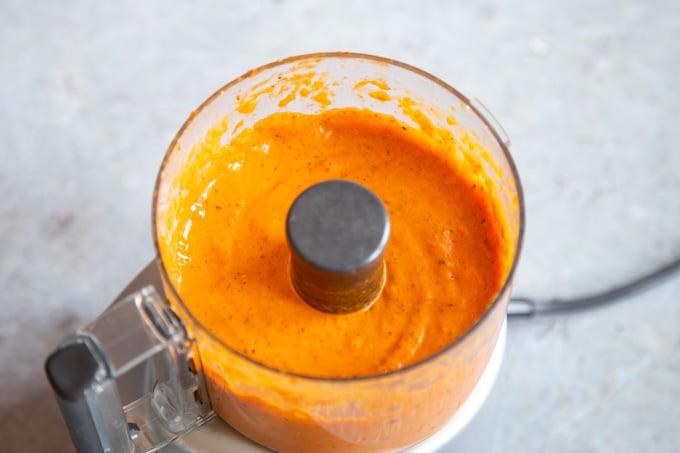 Blitzed smooth peri peri sauce