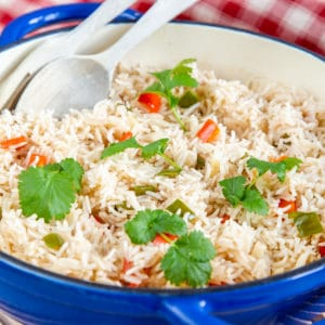 Spicy rice close up