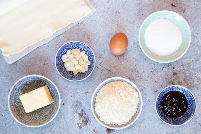 Ingredients for galette des Rois