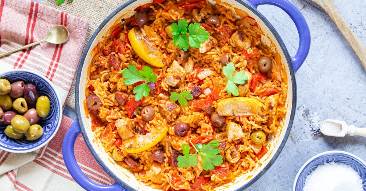 One Pot Spanish Chicken With Rice Fuss Free Flavours