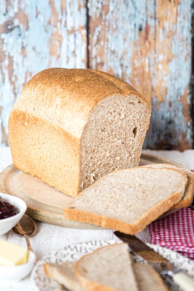 Spare sourdough leaven brown bread