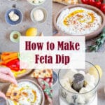 Learn how to make Feta Dip with this picture collage
