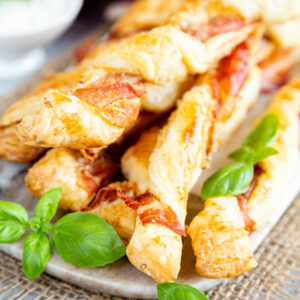 Close up of cheese twists