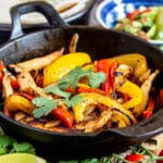 Leftover Roast Chicken Fajitas