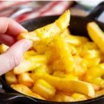 Bowl of fresh cheesy chips