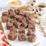 Three Ingredient Chocolate Coffee Fudge