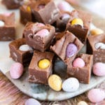 Three Ingredient Mini Egg Fudge