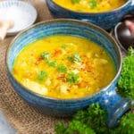 Easy Leftover Turkey Lentil Soup